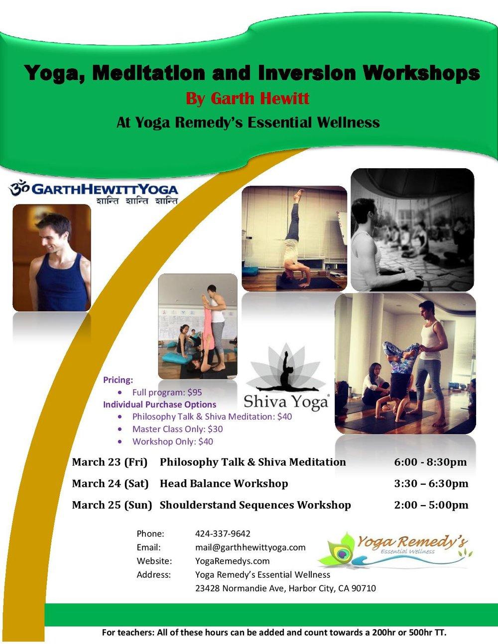 Workshop 95 Addressing Students >> Yoga Meditation And Inversion Workshops Yoga Remedy S Essential