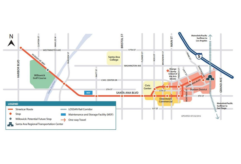 OC Streetcar Project Area