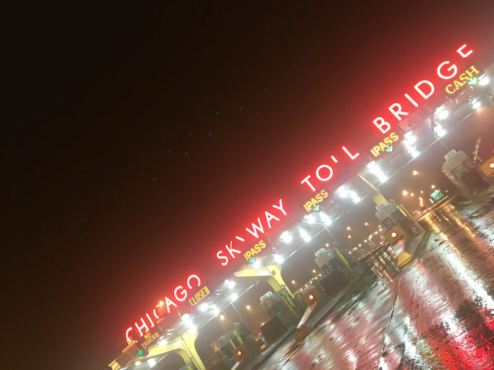 Chicago Skyway Toll Bridge shining bright like a diamond.