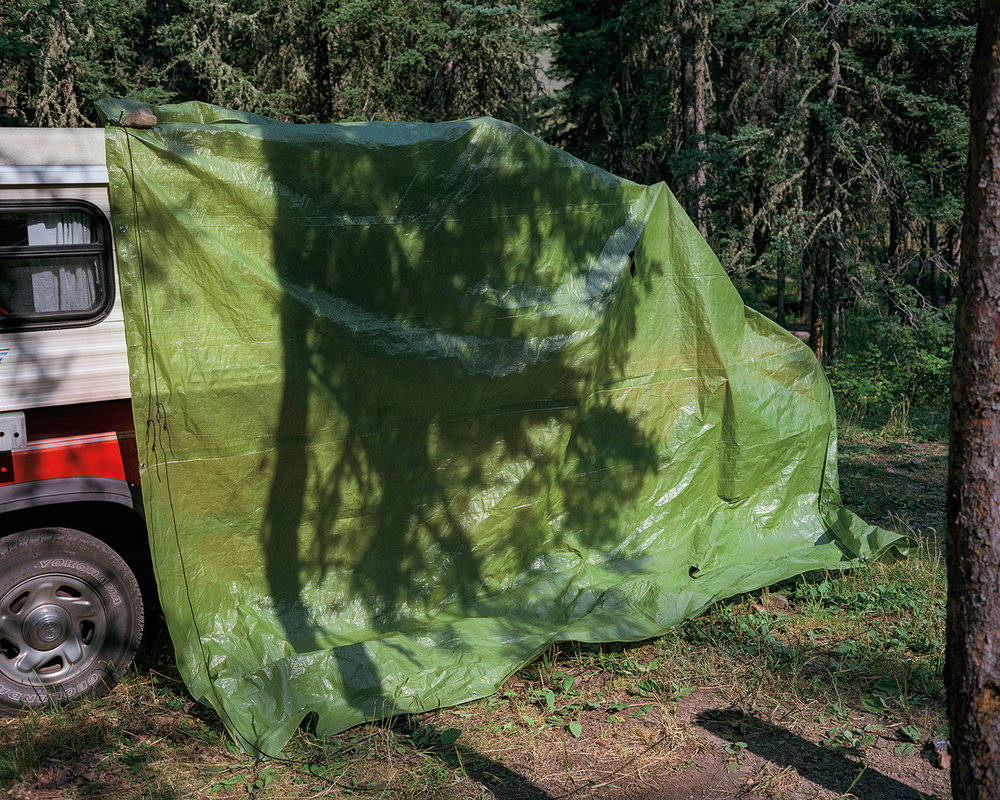 Camouflaged Camper, Archival Inkjet Print, 24x20  Framed and Ready