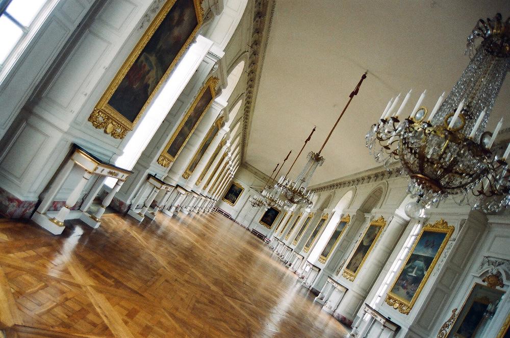 tilted hallway