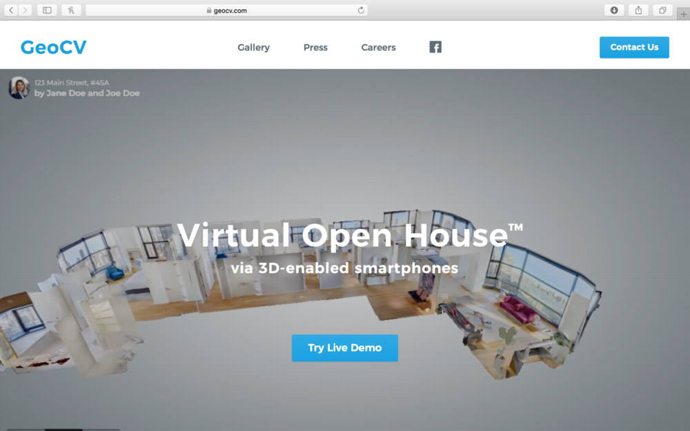 Geocv - 2D images don't do justice to 3D spaces, particularly when you are searching for a home or office. GeoCV's technology produces true 3D plus 360 degree virtual tours and digital floor plans for any real estate listing.