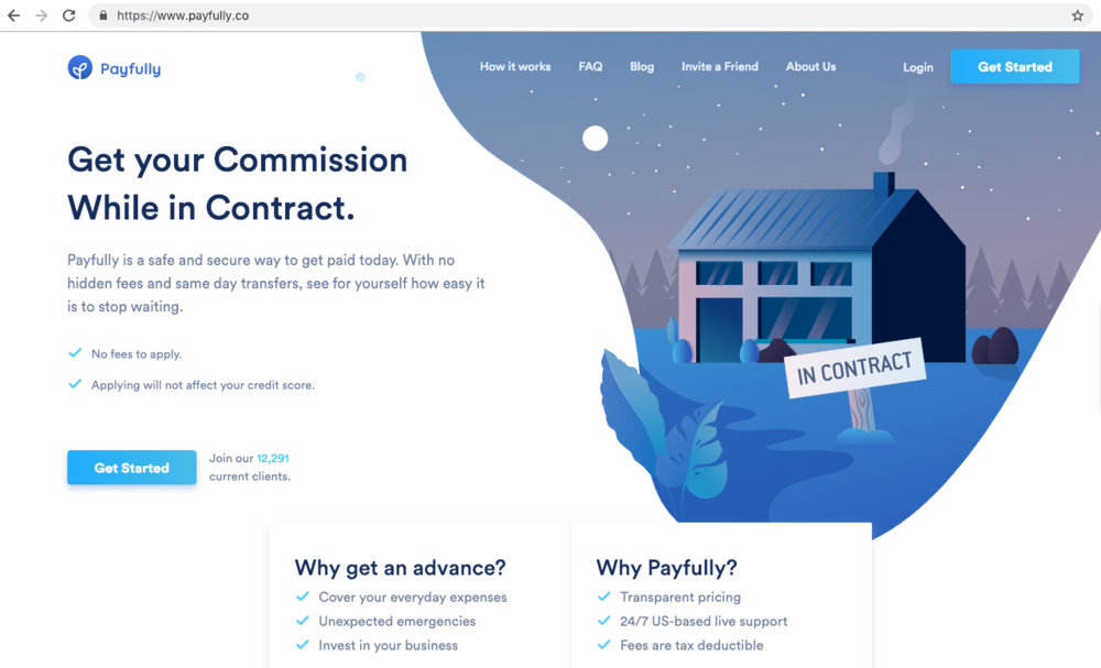 Payfully - Transactions can take time to close, Payfully is a safe and secure way to get commission paid today with no hidden fees and same day transfers.