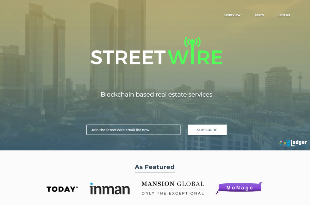 streetwire - Our network allows businesses to unlock the value of the data that they already produce.  By leveraging the network, there is greater transparency between transaction stakeholders and streamlined data recording and distribution rights allowing for faster, more secure transactions at lower costs.