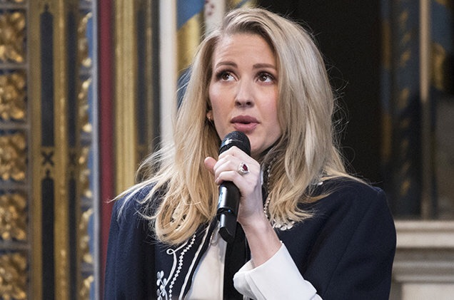 Ellie Goulding Swoons in Westminster Abbey