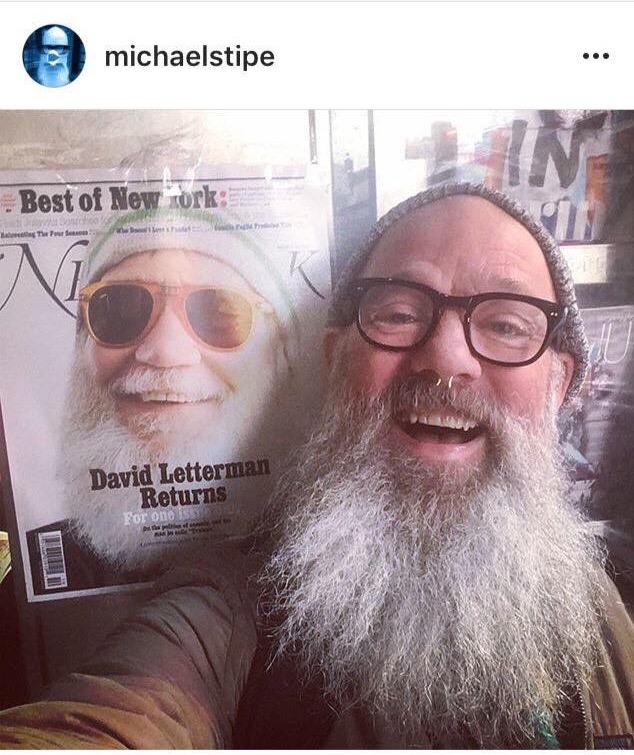 Hey look! It's Michael Stipe (Not Santa)