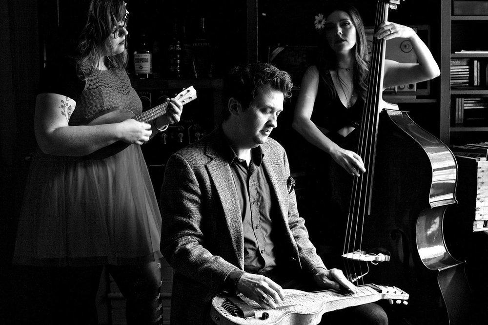 Sarah Bandy   +       Josh Kaler       +   Annie Clement   s  = Hula HI-FI
