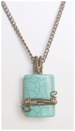 Brass Wire Wrapped Turquoise Pendant.jpg
