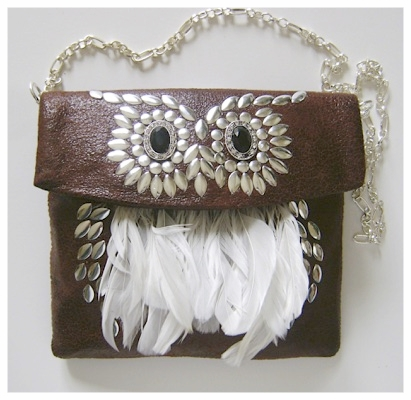 Leather And Feather Purse.jpg
