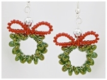 Twin Bead Christmas Wreath Earrings.jpg