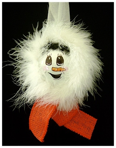 Warm and Fuzzy Snow Girl Ornament.jpg
