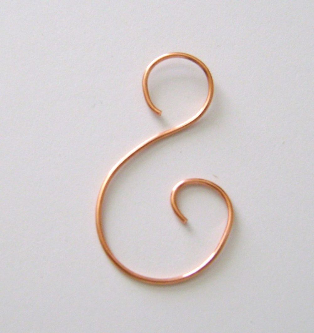 "step 14 - Create a fancy ""S"" hook to hang the ornament."