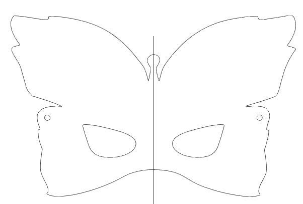 step 1 - Download and print the mask template on card stock.  Cut it out with scissors or a craft knife.