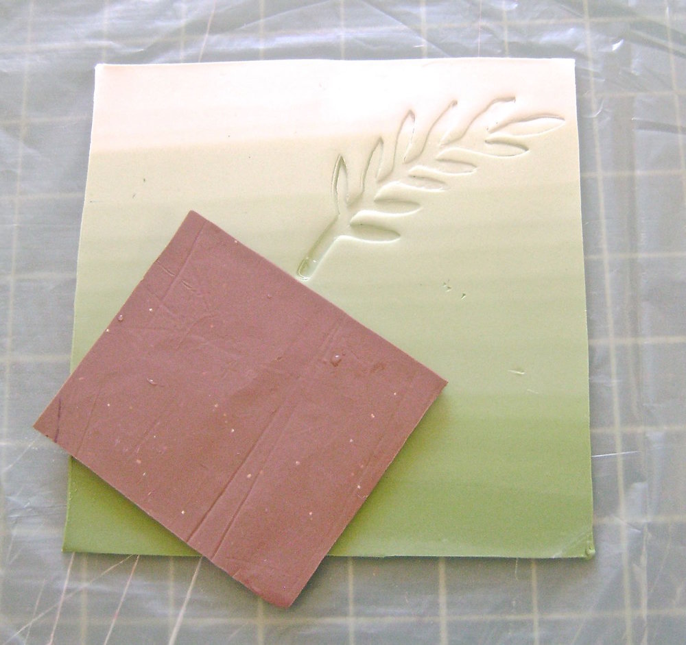 step 7 - Press the texture sheets onto the clay side panels as desired to create an overall pattern.