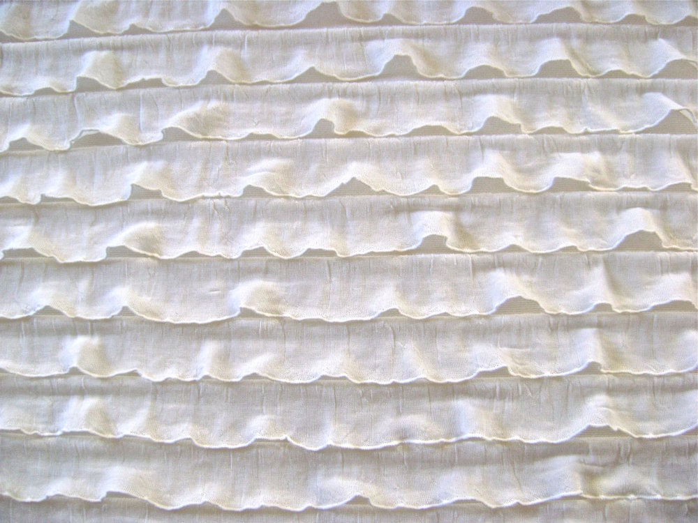 "50"" RUFFLED FABRIC BY THE YARD"