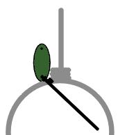 step 5 - Pull the wire to the front of the circle. Wrap it around the circle wire once.