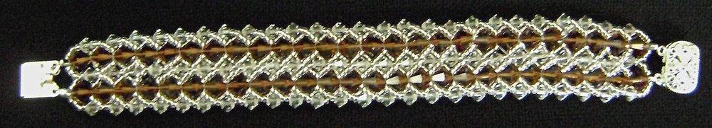 Double Strand Woven Crystal Bracelet