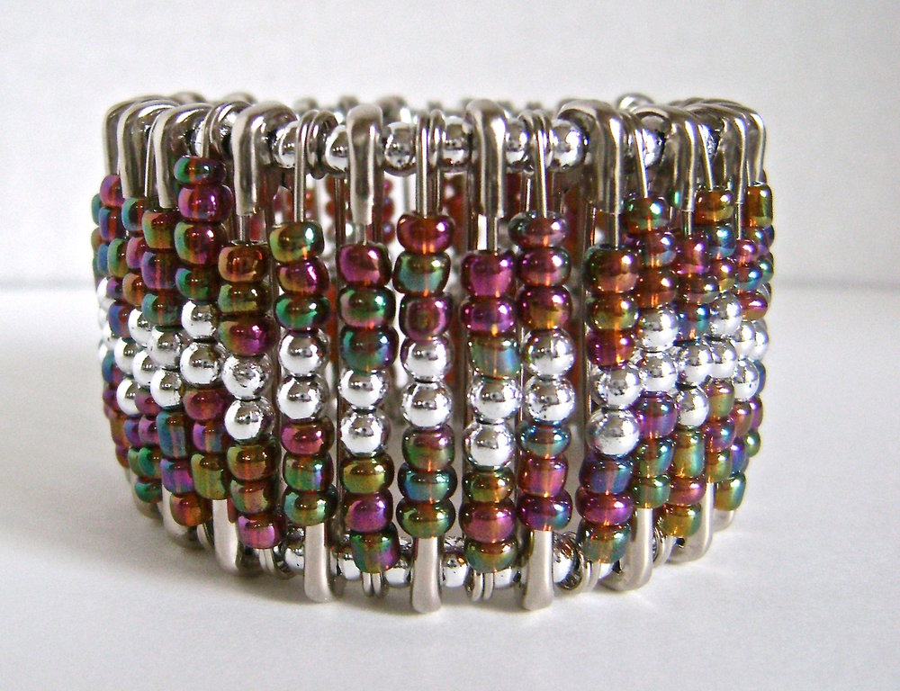 New! Three Step Beaded Cuff Bracelet