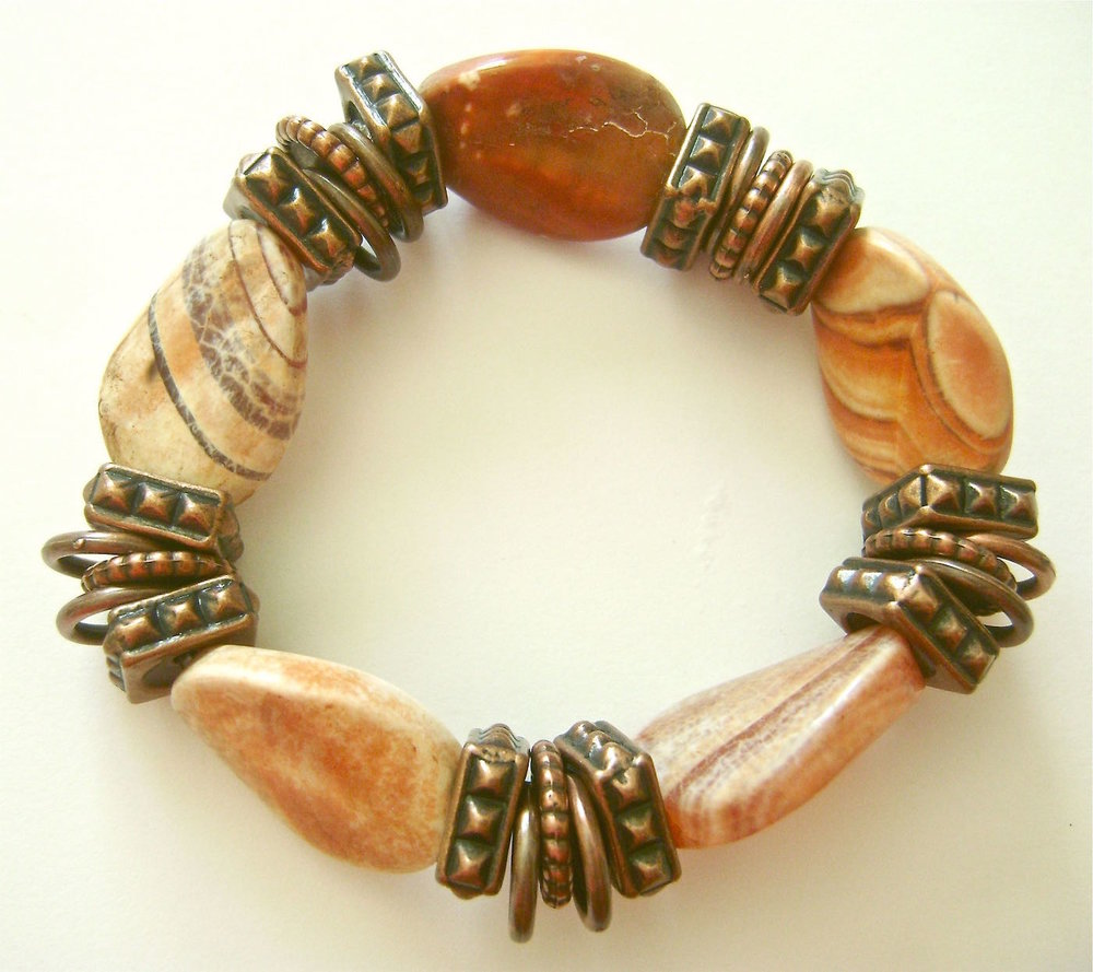 If you like Jasper Stones you may also like the  Stretchy Simple 5 Stone Bracelet.