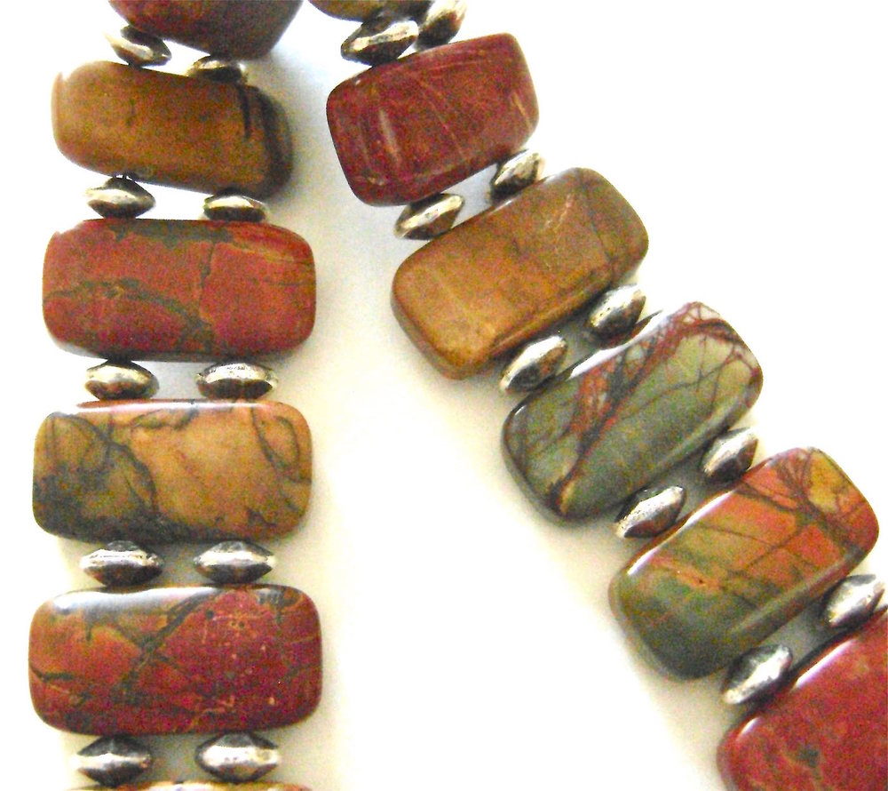If you like Jasper Stones you may also like  Vicky's Jasper Stone Bracelet .