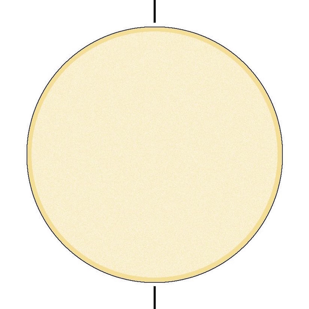 step 4 - When the paint is dry, remove the grey piece. Spray a light coat of Blonde Ambition across the entire circle.