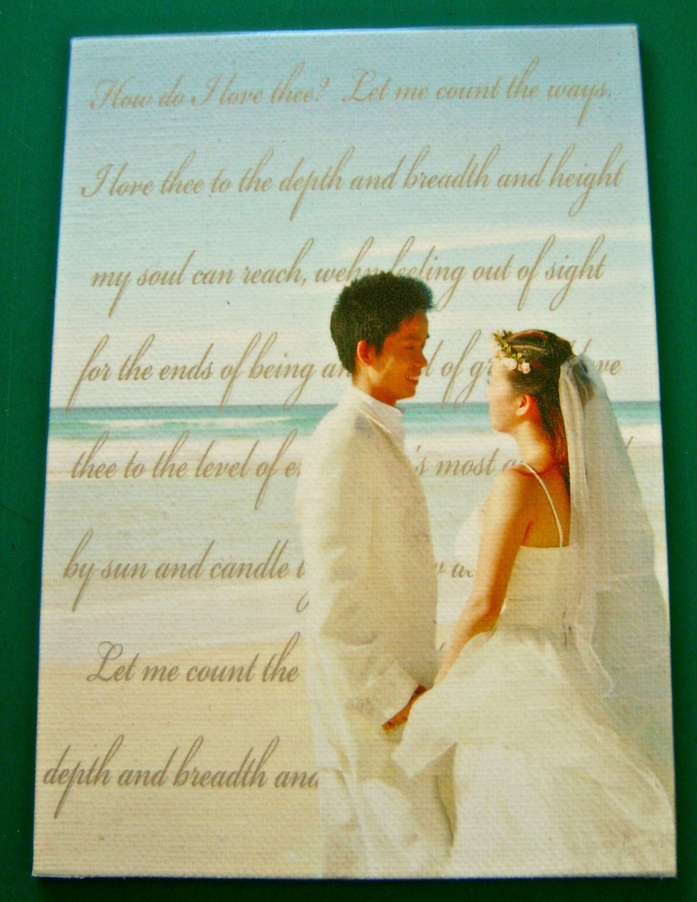 step 8 - Align the top of the film to the top edge of the canvas with the text centered on the panel.
