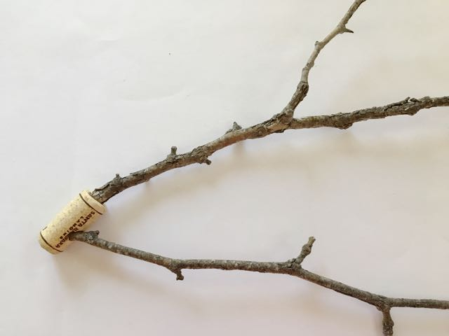 step 20 - The glued branches should be at about a 30–degree angle to each other.