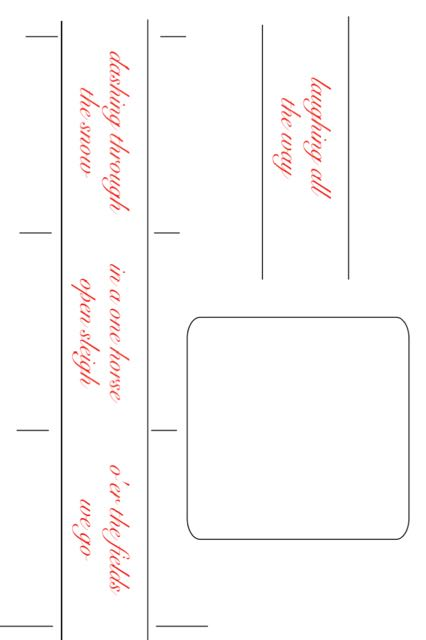 step 1 - Download the template page. On card stock, print out the three-phrase strip and the one-phrase strip along with the image frame.