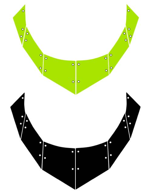 step 1 - Download and print out the necklace templates.  CK  - Print the bead templates onto card stock. Cut them out with a craft knife.  SC  - Download the cut files.