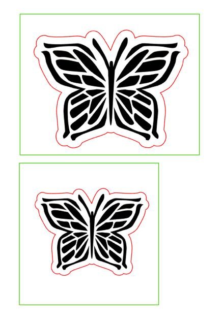 step 1 - Print out the template on card stock. Create the two different size stencils by cutting out the black areas with a craft knife. Cut out the squares on the green line. The blank border around the design will give you an unpainted space to grab when removing the stencil.