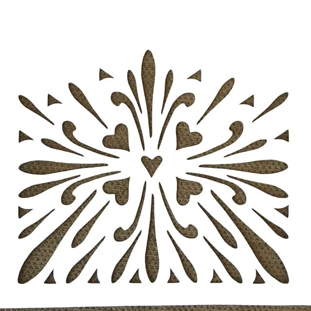 step 1 - Print out the template on card stock and cut out the shapes with a craft knife. If you have a stencil cutting machine, download the Silhouette cut file or SVG file.