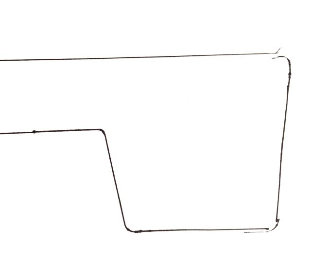 step 11 -Trace the shape of the flag onto paper.