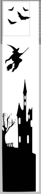 step 1 - Open an image in a drawing program and enlarge it to fit inside your window space. I created mine in the Silhouette Design Studio Software. I also cut the images on the Cameo 3. Use a craft knife if you don't have a machine.