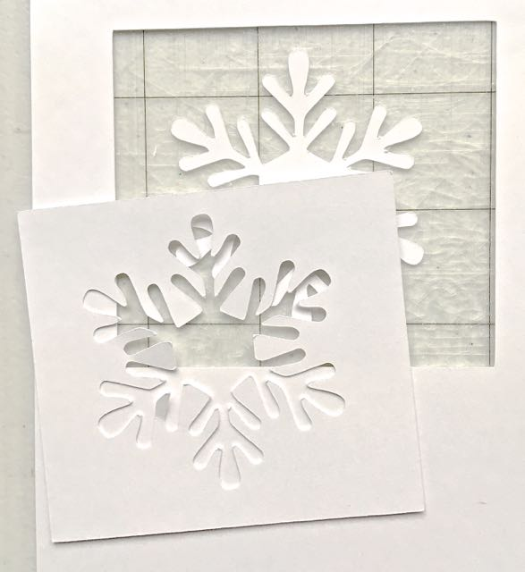 step 9 -  The Snowflake  - Download and print out the snowflake template. I used three templates glued together with spray adhesive to make a really deep impression when the template is pressed into the clay. You can get by with one layer if desired. CK – Print the template onto card stock. Cut it out with a craft knife. SC – Download the cut file and cut the image using the plain card stock setting on your Cameo or Curio.