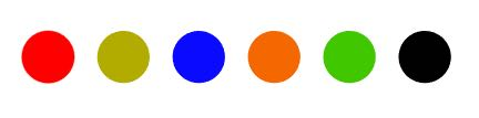 step 3 - Follow the order of the colors and their direction beginning at the starting point - the red dot, and finishing with the black dot.