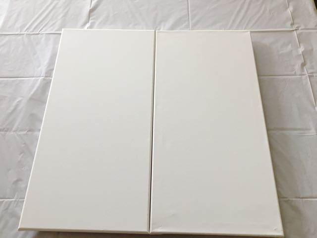 step 5 - Align the canvases side by side to create one continuous painted image.