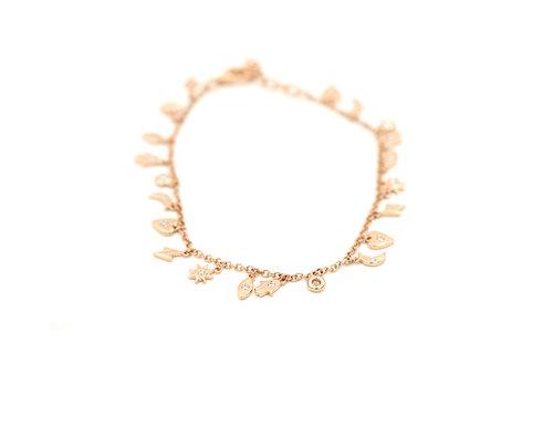45a73d6f7 14k Rose Gold and Diamond Charm Bracelet — Andrea Groussman Fine Jewelry
