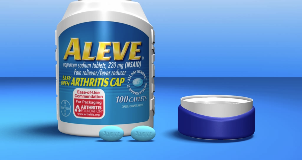 Aleve Arthritis Bottle Animation