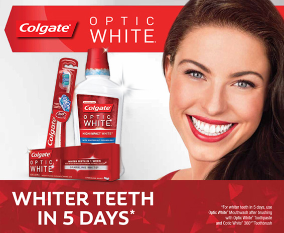 Colgate Optic White Display Header