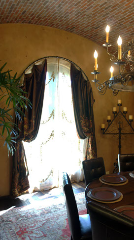 Arched Window Treatments, Custom Drapes
