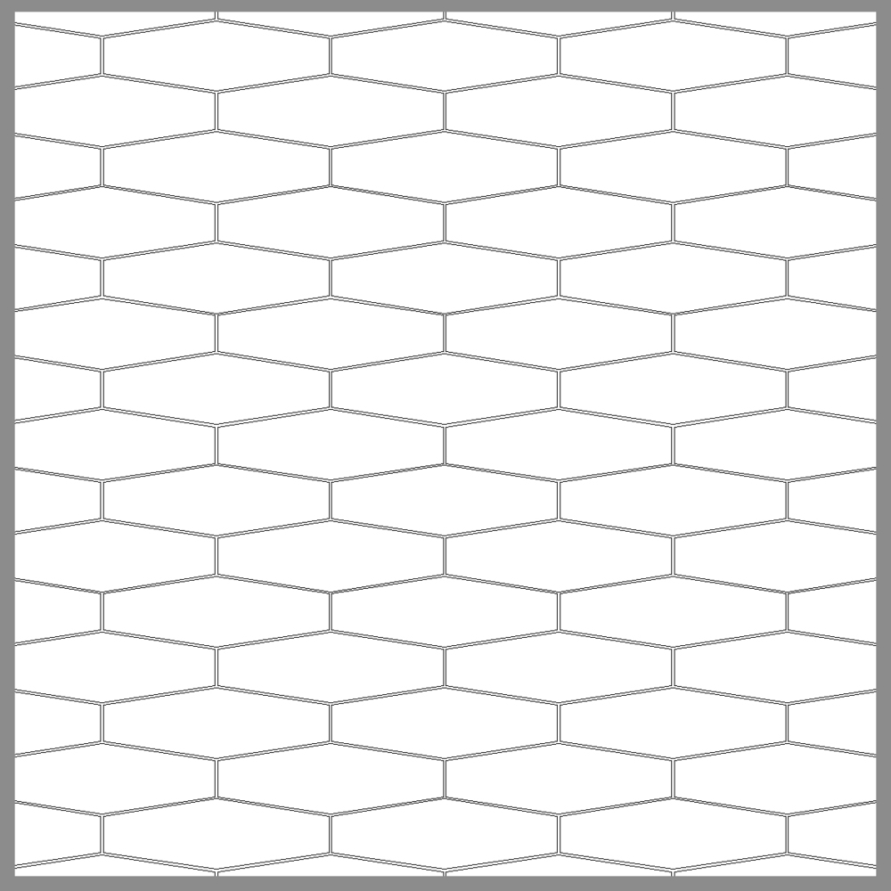 ELONGATED HEX (LOOSE OR MESH-MOUNTED)
