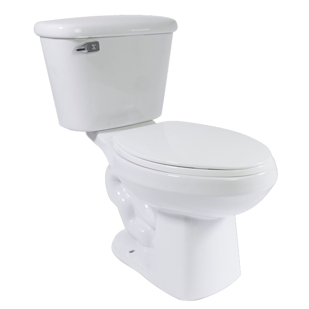 "DANUBIO ELONGATED TOILET - WHITE - Elongated, 1.28 GPFHeight 17""2"" Glazed TrapwayMaP: 800 grRough in: 12"""