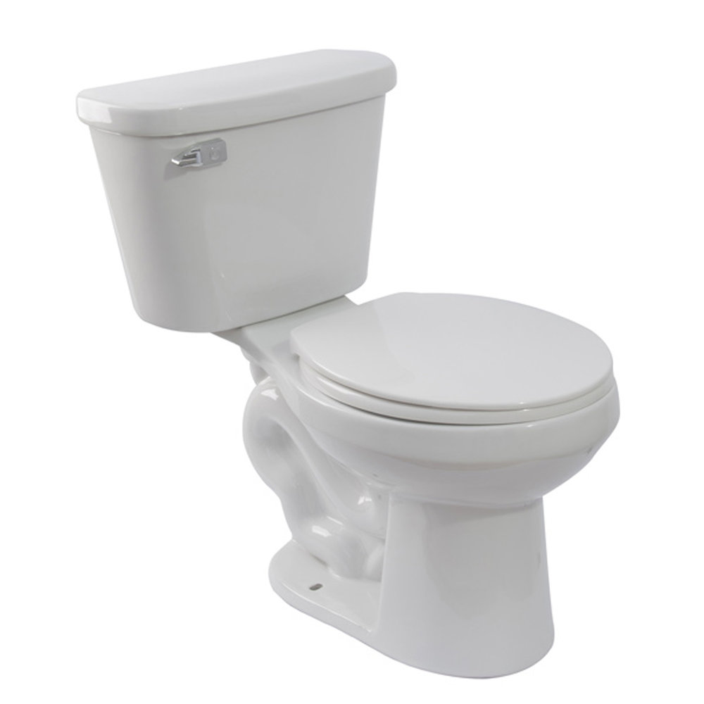 "GENOVA TOILET - WHITE - Round1.28 GPFHeight 15""2"" Glazed TrapwayMaP: 800 grRough in: 12"""