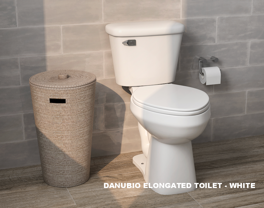 DANUBIO ELONGATED TOILET - WHITE