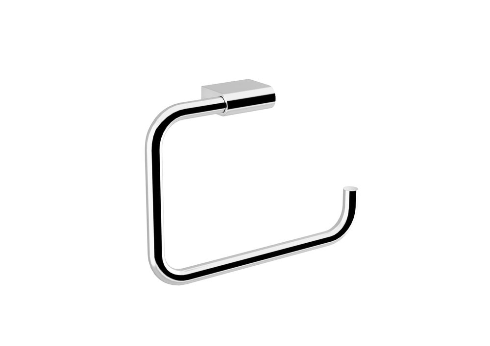 "PURE  COLLECTION TOWEL RING  - $43.00 ea9"" X 6.5"" X 0.4""Hidden AttachmentsLifetime durability/10 year warrantyFinish: Glossy chrome#GDC030172-SA"
