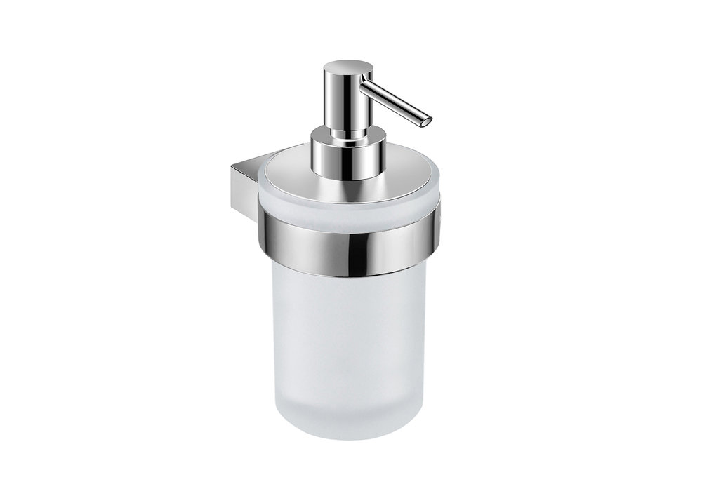 "PURE COLLECTION SOAP DISPENSER  - $44.00 ea6.6"" X 4.2"" X 0.3""Hidden AttachmentsLifetime durability/10 year warrantyFinish: Glossy chrome#GDC030105-SA"