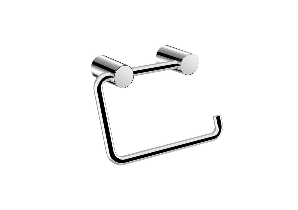 "BASIC COLLECTION PAPER HOLDER - $29.50 ea5,2"" X 3,6"" X 0,2""Hidden AttachmentsLifetime durability/10 year warrantyFinish: Glossy chrome#GDC050158-SA"