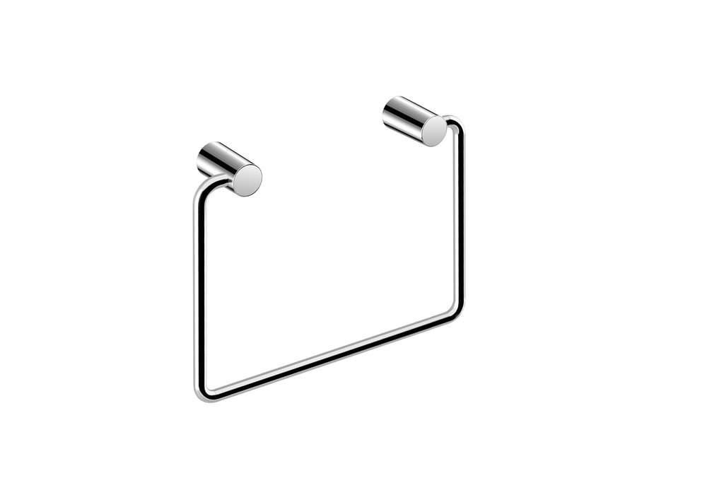 "BASIC COLLECTION TOWEL RING - $43.00 ea8"" X 6,3"" X 0,3""Hidden AttachmentsLifetime durability/10 year warrantyFinish: Glossy chrome#GDC050172-SA"