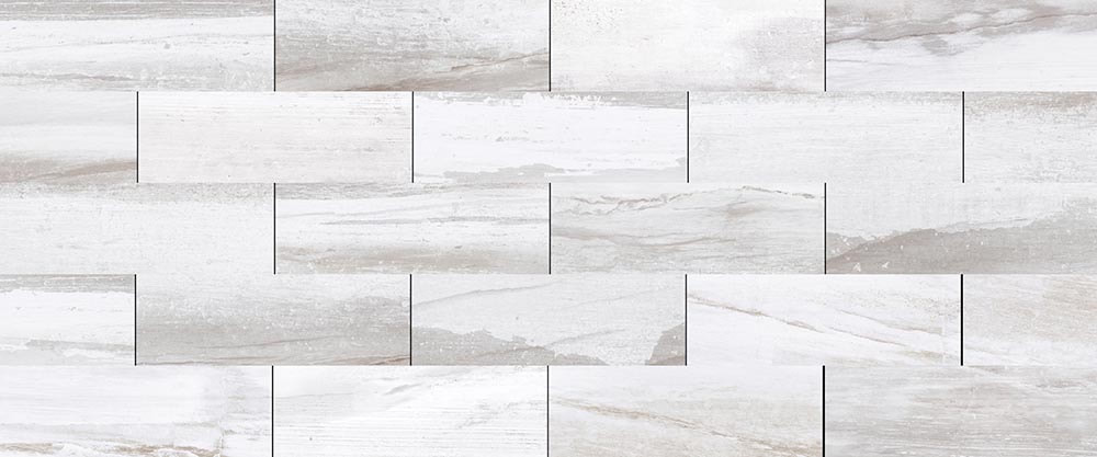 "WHITE WATER 4""x12"" WALL TILE"