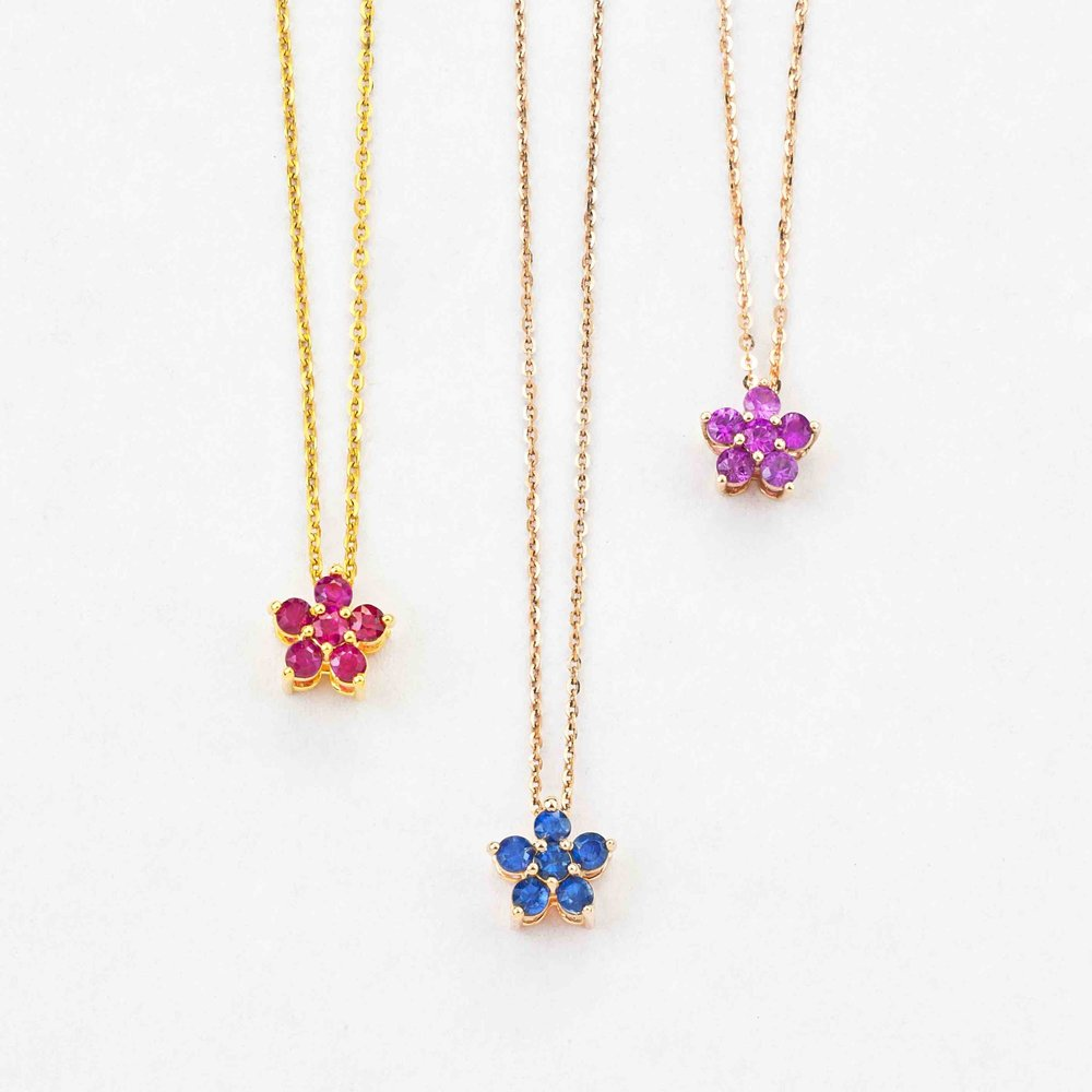 Mia Ruby Star pendants